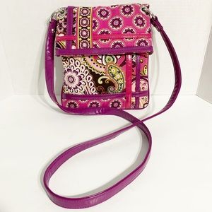 Vera Bradley Quilted Crossbody Bag Faux Leather